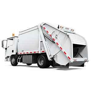 4tパッカー車両<br>廃棄物回収ドライバー