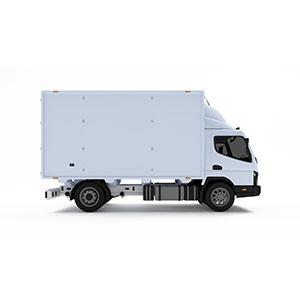 1.5t冷蔵車両喫茶店への乳製品配送