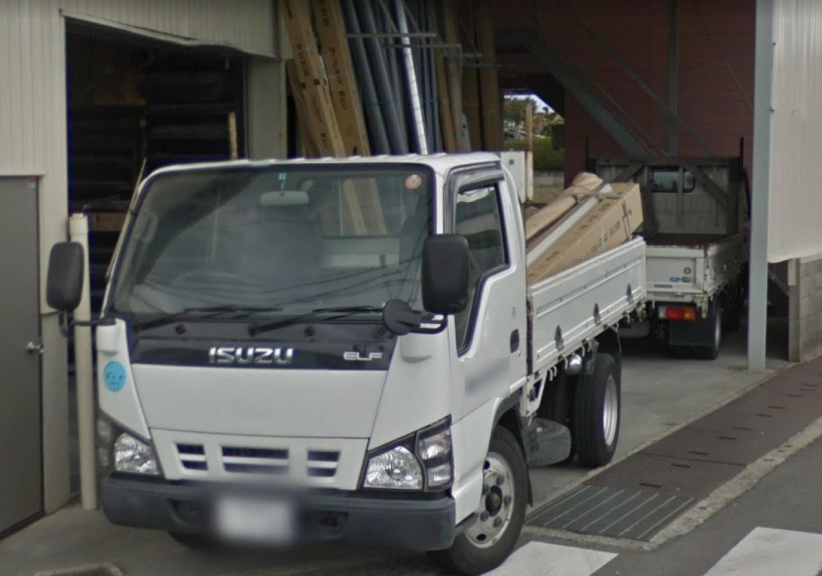 2t・3t平車両住宅外装資材配送