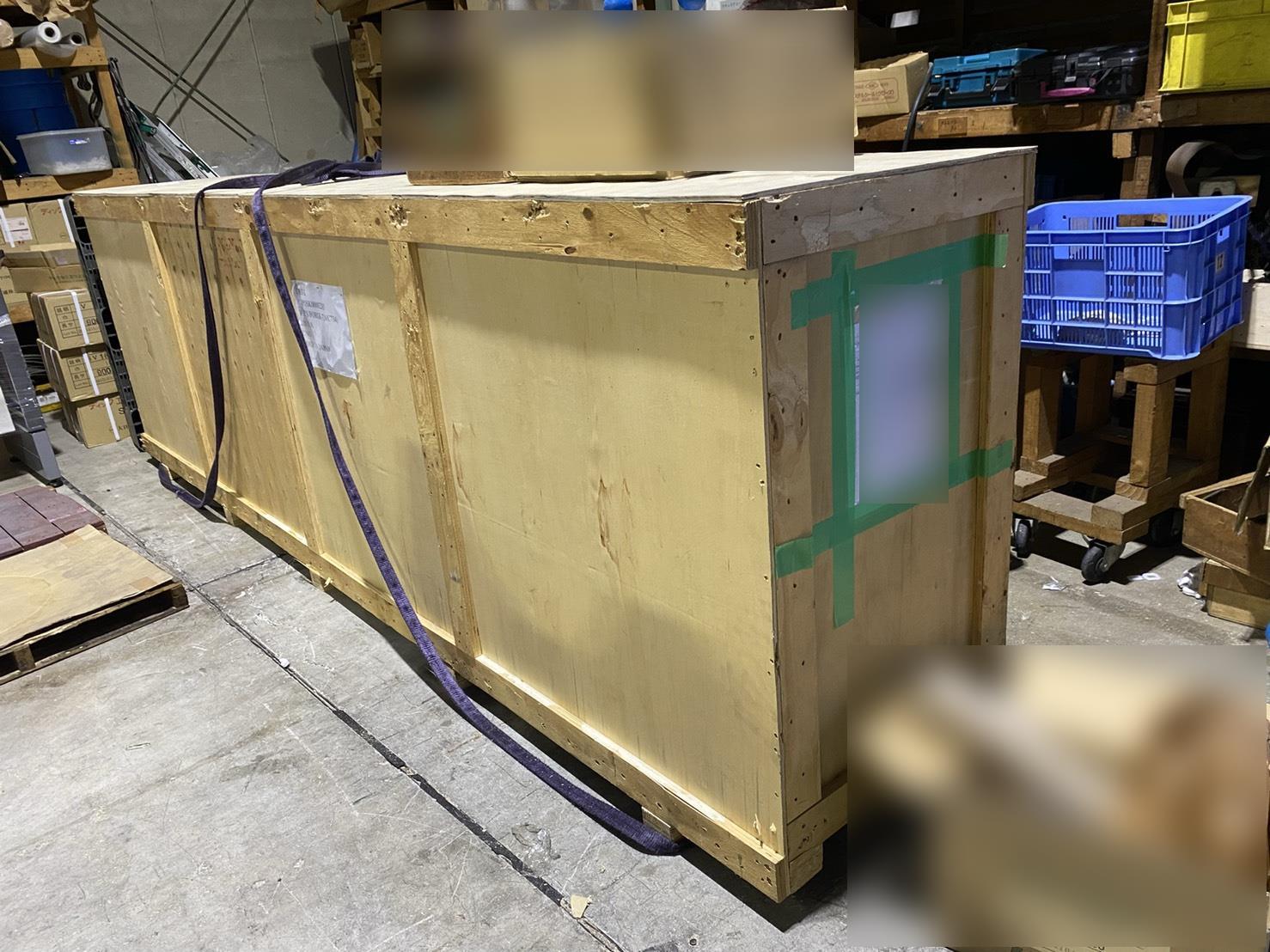 4t平車両木箱梱包製品の配送業務